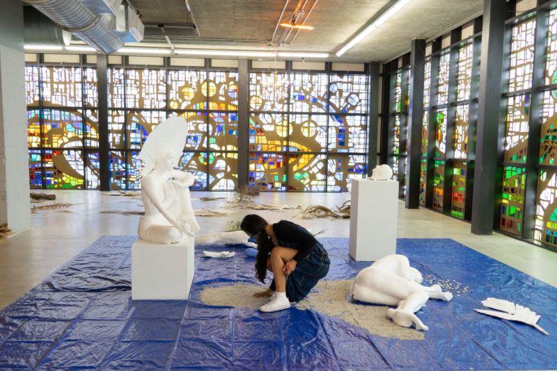 Priscilla Aleman works in the YoungArts Jewel Box